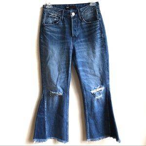 3x1 W4 Higher Ground Gusset Crop Jeans Flare 24